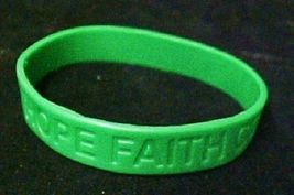 Green Awareness Bracelets 12 Piece Lot Silicone Jelly Wristband Cancer Cause image 6