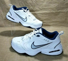 Nike Air Monarch IV Leather Lifestyle Gym Training Shoes Men 13 White 415445-102 image 1