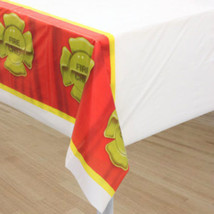 Firefighter Party Table Cover (1) - $12.30