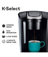Keurig - K-Select Single-Serve K-Cup Pod Coffee Maker - Matte Black - $102.88
