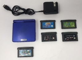 Nintendo Gameboy Advance SP Blue - Super Mario World 2 + more and charger - $84.15
