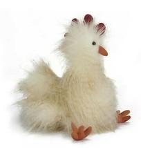 NEW NWT JELLYCAT Chelsea Chicken Frizzy Fur Plush Stuffed Animal Toy - $21.99