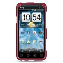 Decoro Premium Hard Shell Snap-On Case for HTC EVO 3D Hot Pink w/Rubber ... - $4.99