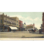 The Busy Corner at New Port News Vintage 1916 Post Card - $6.00