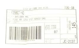 LOT OF 5 NEW DIGI-KEY 0451004.MRL FUSES 4A 125V FAST NANO2 SMD F2586CT-ND