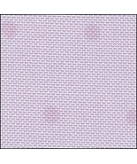 FABRIC CUT 28ct purple dot/silver sparkle evenweave 12x11 More Stitching... - $10.00