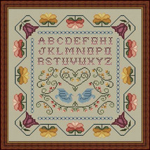 Colonial Sampler cross stitch chart Whispered By The Wind - $7.20