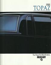 1988 Mercury TOPAZ brochure catalog US 88 GS LS LTS XR5 - $6.00