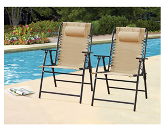 Pool Deck Chairs Lounge Patio Relaxing Tanning Rest Sipping Drinks Foldable