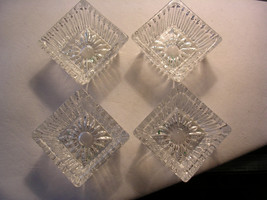 Vintage square salt dips, set of four - Mint condition! - $16.95