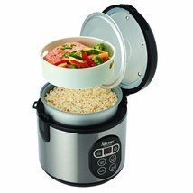 Digital Food Steamer Pressure Crock Slow Basmati Aroma Pot Kitchen Rice ... - $89.59