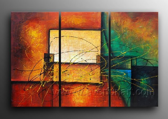 Hand-painted Wall Decor Modern Abstract Oil Painting On Canvas (+ framed )