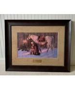 "30"" x 38""  THE PRAYER AT VALLEY FORGE Arnold Friberg Walnut Framed Print... - $593.99"