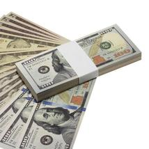 PROP MOVIE MONEY - $3700 New Style Mixed (100) Bill Pack - $14.00