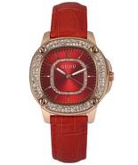 Fashion Bling Crystal Lady Women Red Leather Band Quartz Wrist Watch WK12 - $76.39