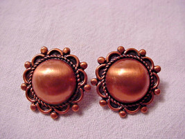 Bell Trading Post Vintage Copper Clip On Earrings  - $14.36