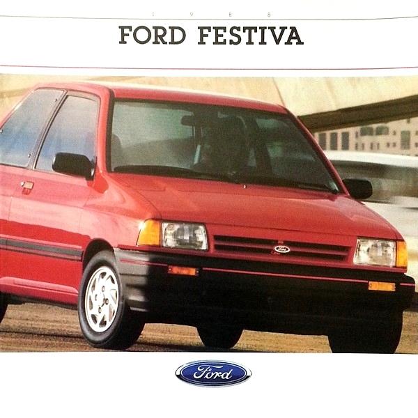 1988 Ford FESTIVA Sales Brochure Catalog 88 US L LX