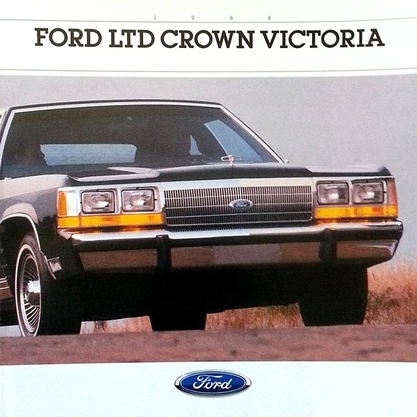 1988 Ford LTD CROWN VICTORIA sales brochure catalog US 88 Country Squire