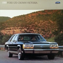1989 Ford LTD CROWN VICTORIA sales brochure catalog US 89 Country Squire - $8.00
