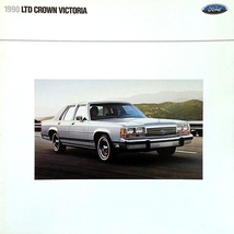 1990 Ford LTD CROWN VICTORIA sales brochure catalog US 90 Country Squire - $8.00