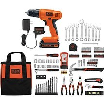 Black & Decker 20V Lithium Home Project Kit with 128-Piece Accessories - $100.56