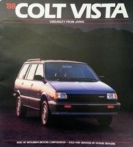 1988 Dodge COLT VISTA dlx brochure catalog US 88 4WD Mitsubishi - $6.00