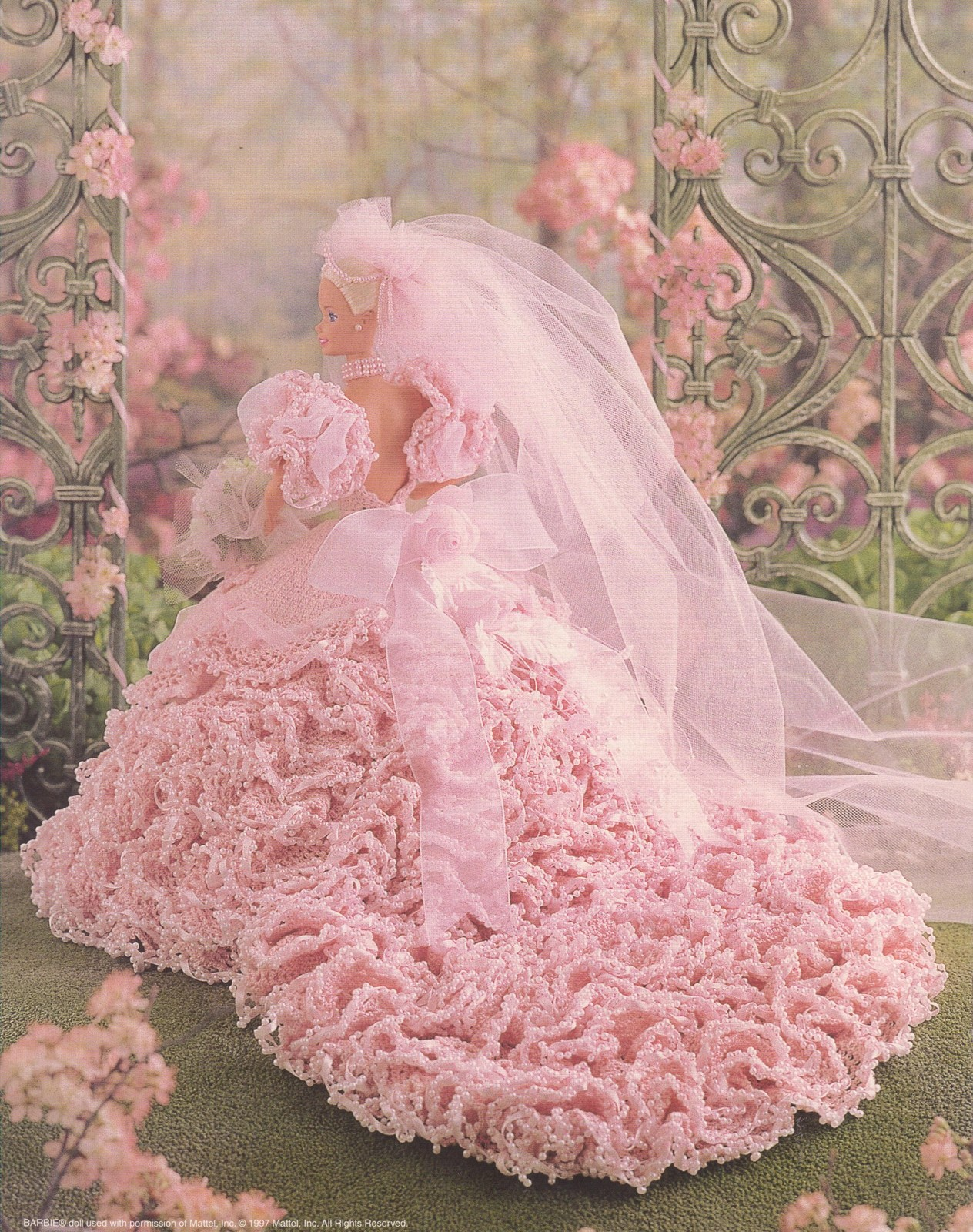 Bridal blush for fashion dolls crochet patterns book for Crochet wedding dress patterns