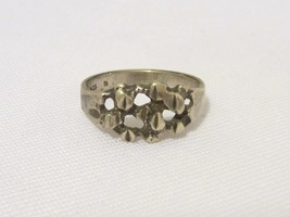 Vintage Sterling Silver Nuggut Ring Size 7 - $15.00