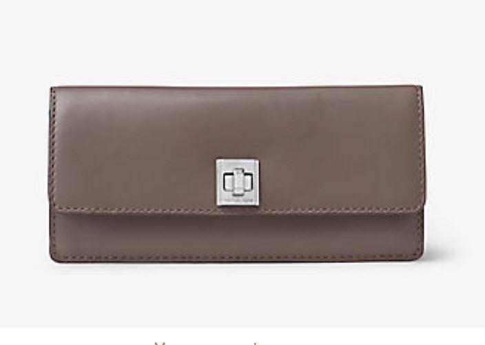 179dca81c9f334 MICHAEL KORS Studio Natalie Heritage LOGO Leather Wallet Blue cinder Pick  one