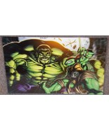 TMNT Raphael vs Incredible Hulk Glossy Print 11 x 17 In Hard Plastic Sleeve - $24.99