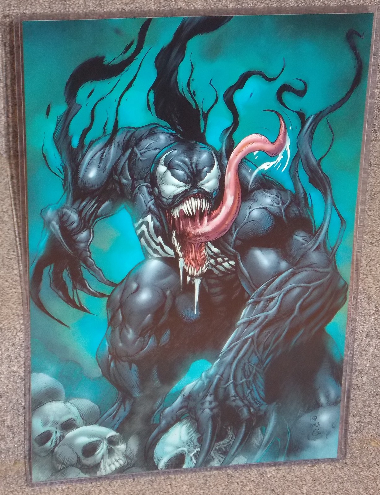 Primary image for Marvel Spider Man Venom Glossy Print 11 x 17 In Hard Plastic Sleeve