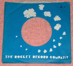 "(1) VTG 1975 Rocket Record Company 7"" 45 RPM Vinyl Wax Popcorn Record Sl... - $9.14"