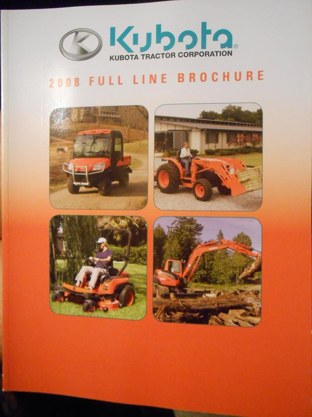 Primary image for 2008 Kubota Equipment Full Line Catalog