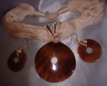 Shell necklace earrings set thumb155 crop