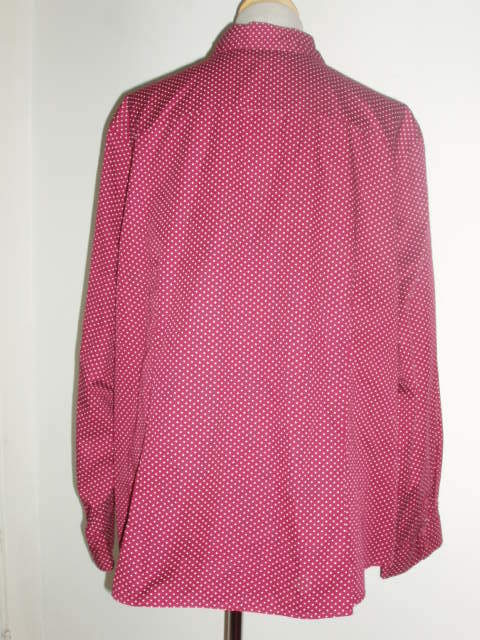 Tommy Hilfiger Woman Red Wine Burgundy Raspberry Button Down Shirt 22W EUC