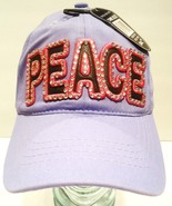 LUCKY - 777 - PEACE - RHINESTONE - LEATHER - LAVENDER - PINK - CAP - HAT... - $11.69