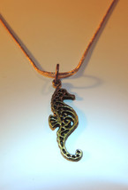 Beautiful Bronze Filigree Seahorse Pendant~ Beach Bling! - $12.00
