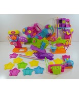 Lot of 7 Polly Pocket Wall Party Play Sets w/ Slides, Mounts & Gliding Bars - $27.99