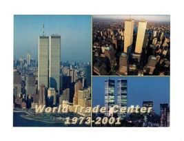 OVERSIZED POSTCARD - WORLD TRADE CENTER 1973-2001 BK13 - $2.45