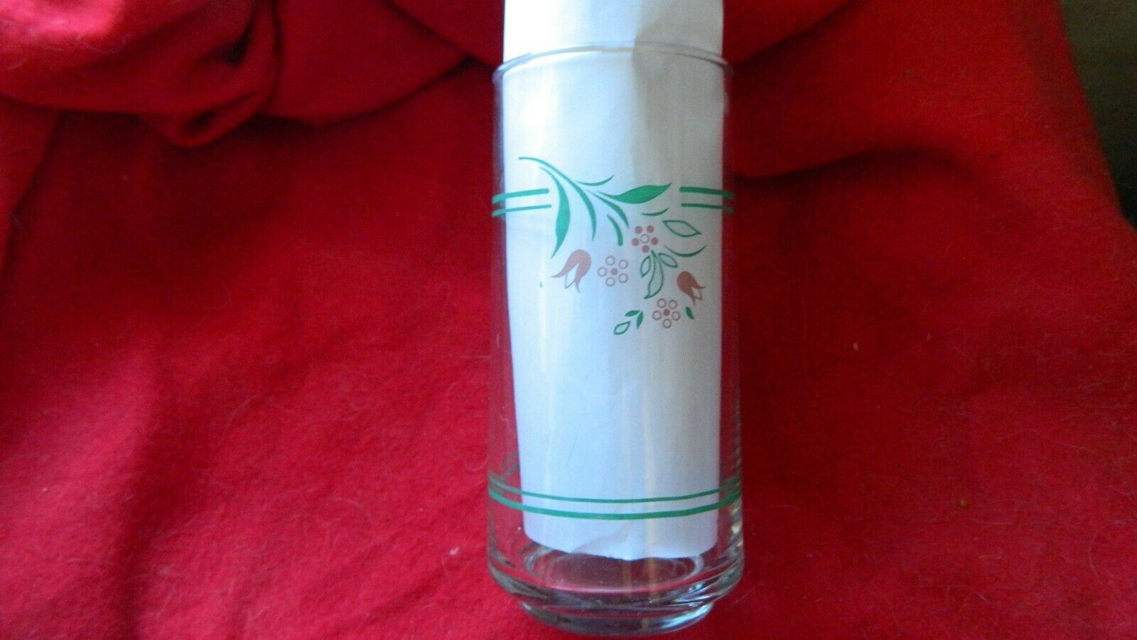 Primary image for CORELLE ROSEMARIE 16 OUNCE ICE TEA TUMBLER DRINKING GLASS x1 FREE USA SHIPPING