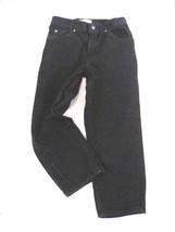 "Boy Size 10 Husky Arizona Black Jeans Relaxed Fit Inseam 23""  5 Pocket Cotton - $13.61"