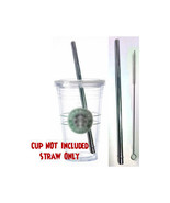 Starbucks Replacement Straw- Stainless Steel Reusable, Washable Drinking... - $5.93