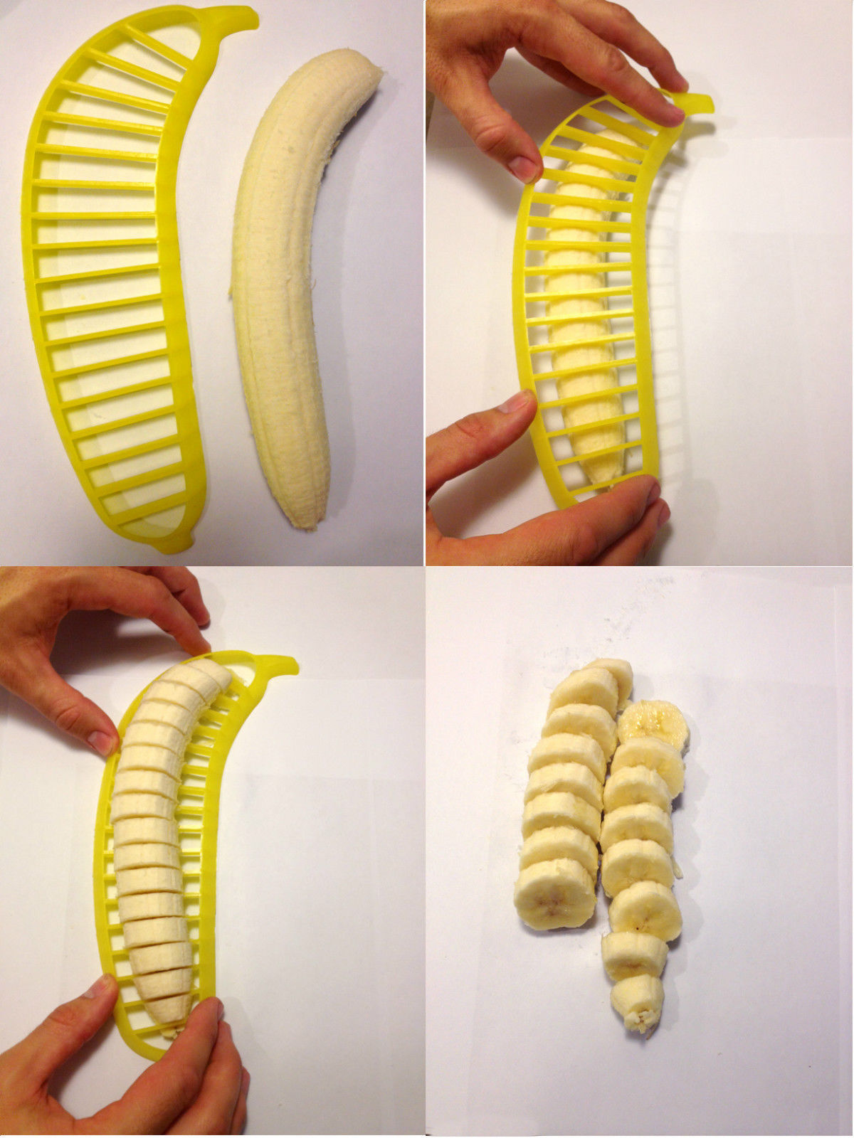 2 Banana Slicers ** USA Seller! Cutter Chopper Tool Gadget make chips instantly!