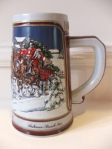 Anheuser Busch Budweiser Holiday Stein 1989 Collectors Series Clydesdale... - $10.40
