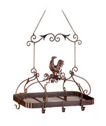 Pot Rack Country Rooster Kitchen Storage Rack H... - $127.86