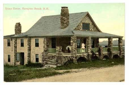 antique postcard Stone House Hampton Beach New Hampshire 1900 vintage