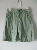 Gap Kids Girl's Size G Regular 100% Cotton Green Shorts w/Adjustable Waist - $20.80