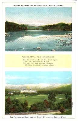 Mt Washington Bretton Woods Hotel NH postcard 1900 poem vintage antique
