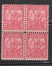 1932 Arbor Day Block of 4 US Postage Stamps Catalog Number 717 MNH