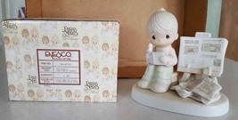 FIGURINE Precious Moments NEW NIB Peace Amid The Storm E4723 1980 Jonath... - $6.44